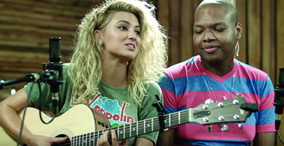 Tori Kelly surprised former UF Health Shands Hospital patient, and AIM participant, Jamal Davis in the recording studio.